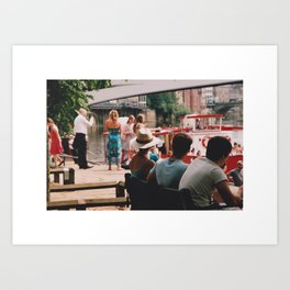 People by River Ouse York 35mm Art Print