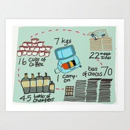 Carry on Seven Art Print