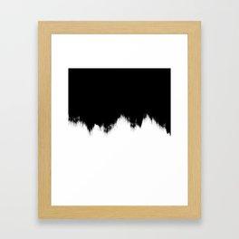 Black And White Abstract Art Framed Art Print