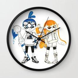 Inklings from Splatoon Wall Clock