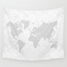 Intricate World Map Wall Tapestry