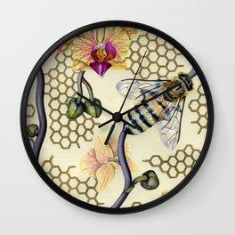 In Her Garden Wall Clock