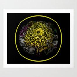 Black Yellow Pink Design Art Print