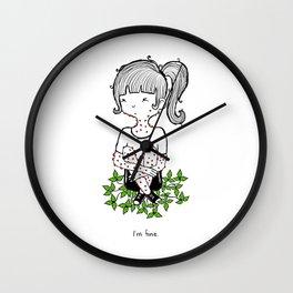 Poison Ivy by Sarah Pinc Wall Clock