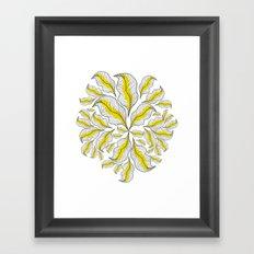 yellow---line Framed Art Print