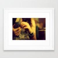 cafe Framed Art Prints featuring Cafe by Dániel Marton