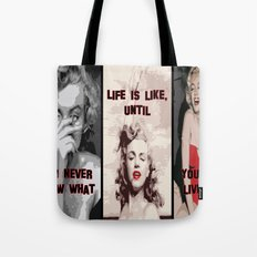 A Tribute to Marilyn Monroe Tote Bag