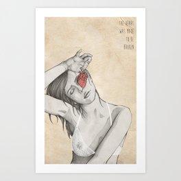 the heart. Art Print