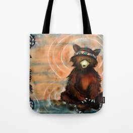 Lovey Tribal Bear Tote Bag