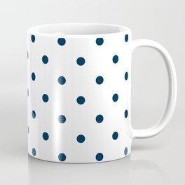 Navy Blue & White Polka Dots Coffee Mug