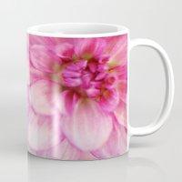 dahlia Mugs featuring dahlia by Beverly LeFevre