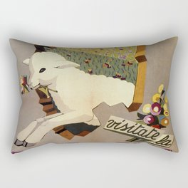 Visit Sardinia vintage Italian travel ad Rectangular Pillow