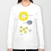 rubyetc Long Sleeve T-shirts featuring My sun, my moon, my tired pissed off stars by rubyetc