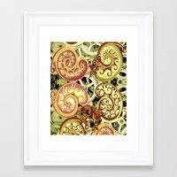 clockwork Framed Art Prints featuring Clockwork. by Sylvie Heasman