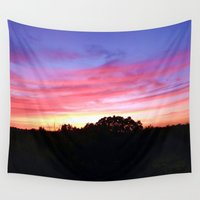 wisconsin Wall Tapestries featuring Wisconsin Sunset by Ron Trickett