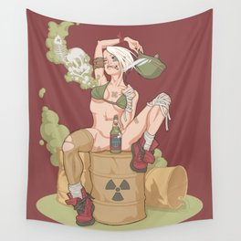 Tank Girl smells like toxic waste Wall Tapestry