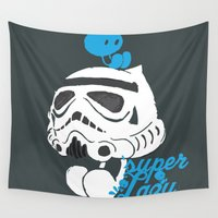 storm trooper Wall Tapestries featuring Super Trooper by inkdesigner