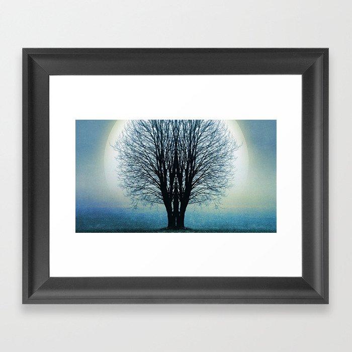 Blue moment Framed Art Print