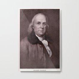 Vintage Benjamin Franklin Portrait Metal Print