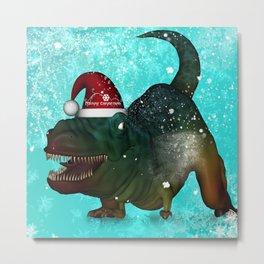 T-rex, merry christmas Metal Print