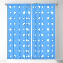 stars 102- blue Blackout Curtain
