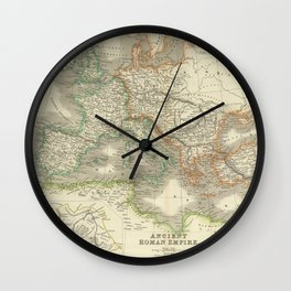 Vintage Map of The Roman Empire (1844) Wall Clock