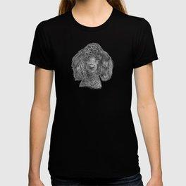 Poodle - black T-shirt