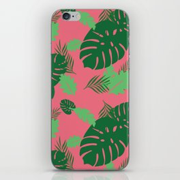 Plants on Pink iPhone Skin