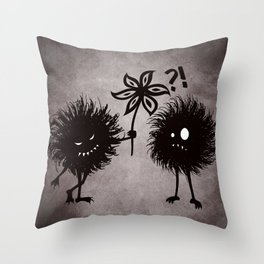 Kind Evil Bugs Throw Pillow