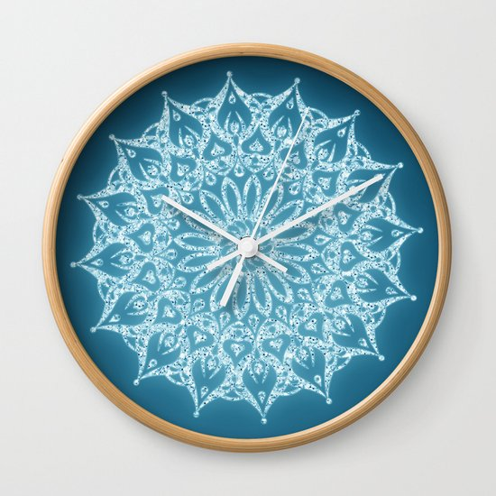 Zen Mandala (Serenity) Wall Clock by Diego Tirigall
