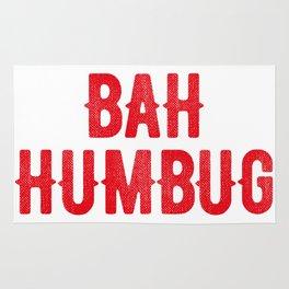 Bah Humbug (red) Rug