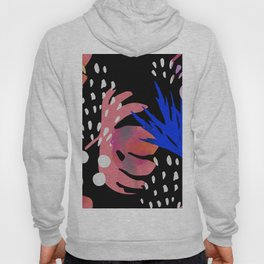 abstract  art with flowers Hoody