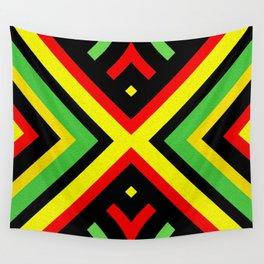 Jah Sun Always Rise Irie Reggae Mandala Wall Tapestry