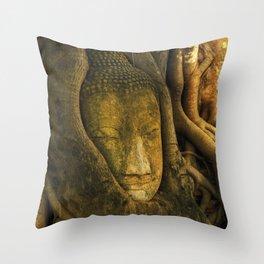 Buddha - Ayutthaya - Thailand Throw Pillow