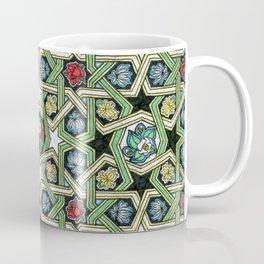8-fold Rosettes with Flowers Coffee Mug