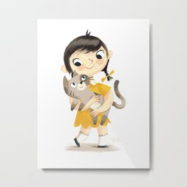 Hello Cat Metal Print