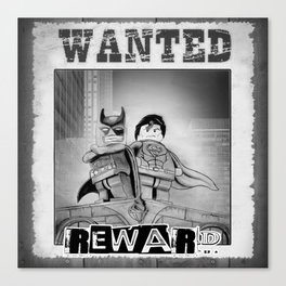 Wanted super heros Canvas Print