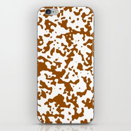Spots - White and Brown iPhone Skin