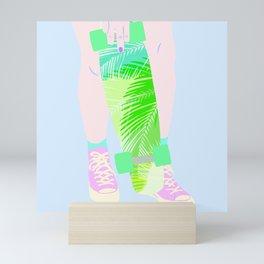 SUMMER SKATEBOARDING Mini Art Print