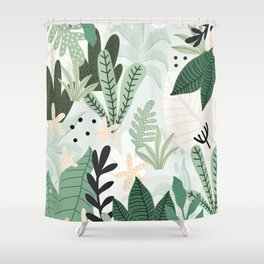 Into the jungle II Shower Curtain