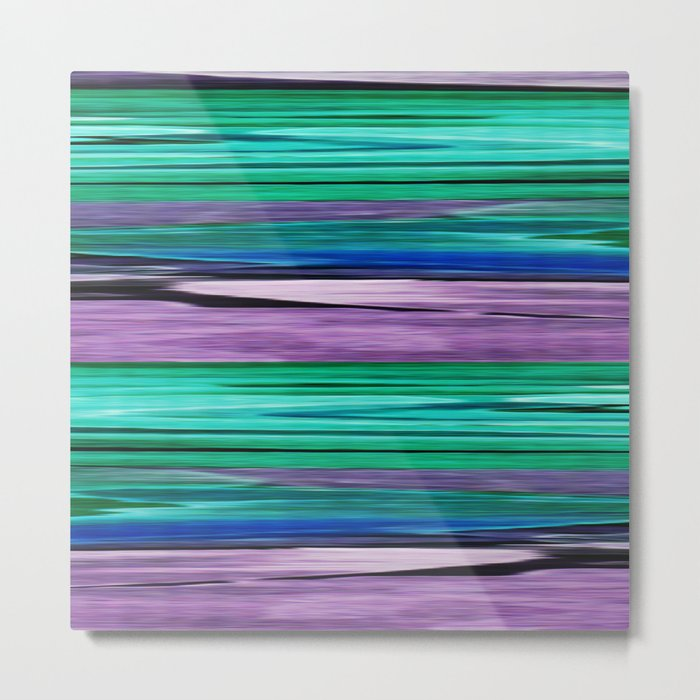 Abstract pattern . Lilac blue turquoise . Metal Print