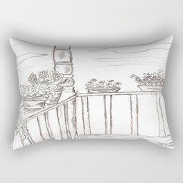 Flowers on the Porch Rectangular Pillow