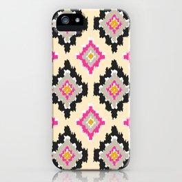 Boho Ikat Diamonds iPhone Case
