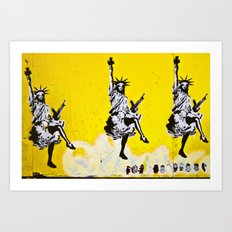 Liberty and Friends Art Print