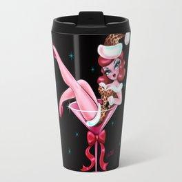 Leopard Christmas Martini Girl Travel Mug