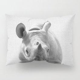 Baby Rhino - Black & White Pillow Sham
