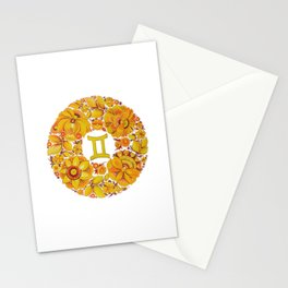 Gemini in Petrykivka Style (without artist's signature/date) Stationery Cards