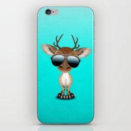 Cute Baby Deer Wearing Sunglasses iPhone Skin