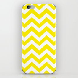 Canary yellow - yellow color - Zigzag Chevron Pattern iPhone Skin