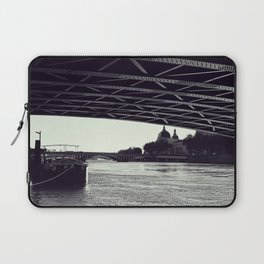 Under the bridge - Rhone river in Lyon, Fine Art Photography Laptop Sleeve
